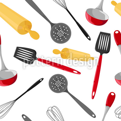 Lets Cook Repeating Pattern