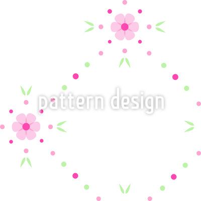 Blumen Flicken Muster Design