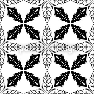 Moroccan BW Vector Pattern