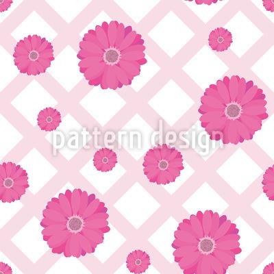 Gerbera Auf Tischdecke Muster Design