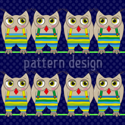 Owls On A Rope Pattern Design
