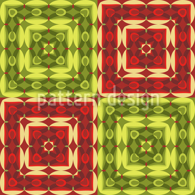 Squared Ornamental Tile Vector Ornament