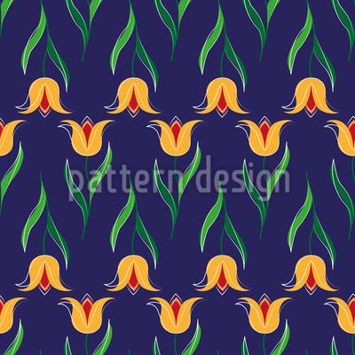 Grüssende Tulpen Musterdesign