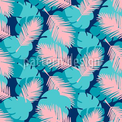 Palmen Und Monstera-Blätter Designmuster