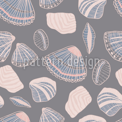 Muscheln und Sand Nahtloses Vektor Muster