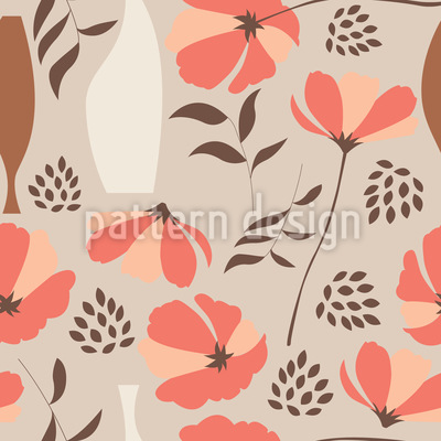 Poppies For Vases Pattern Design