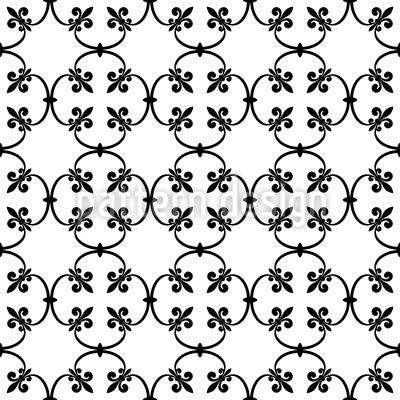 Fleur-de-lis Forging Repeat Pattern