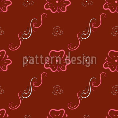 Curlicue Flower Ornaments Pattern Design