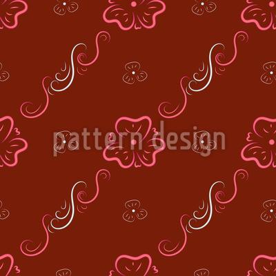 Schnörkel Blumenornamente Muster Design