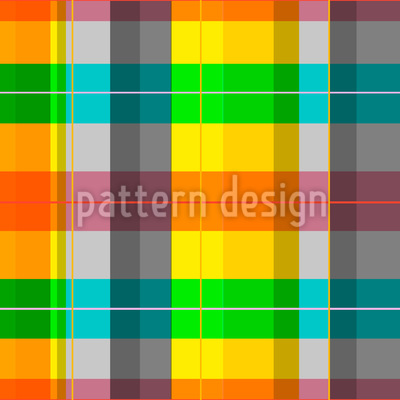 Colorful Checkered Vector Ornament