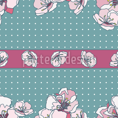 Bordure of Blossom Pattern Design