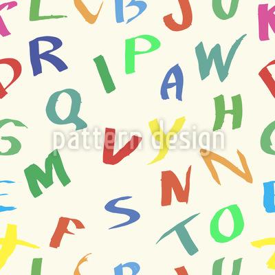 Alphabet von Hand gezeichneten Buchstaben Designmuster
