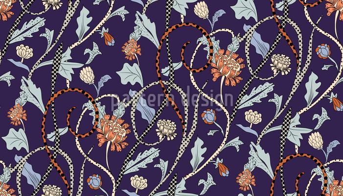 Leopard Flowers Pattern Design