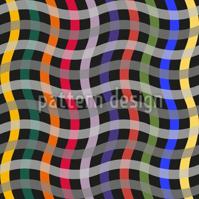 Big Waved Grid Vector Pattern