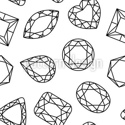 Diamanten Sind Freunde Muster Design