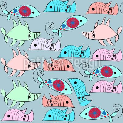 Fantasy Vivid Fish Seamless Pattern