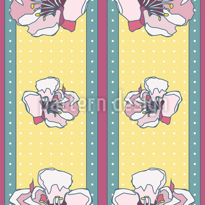 Falling Fruit Blossoms Vector Pattern