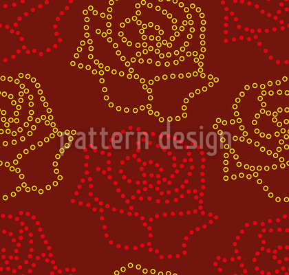 Dotted Roses Repeat
