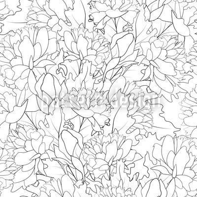 Endless Peony Pattern Design