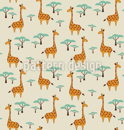 Cute Giraffes Pattern Design