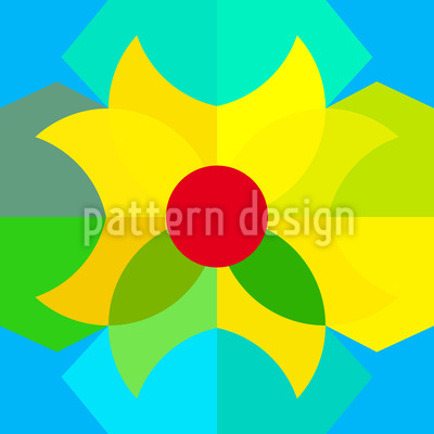 Geometric Spring Vector Pattern