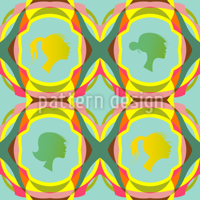 Spring Silhouettes Vector Pattern