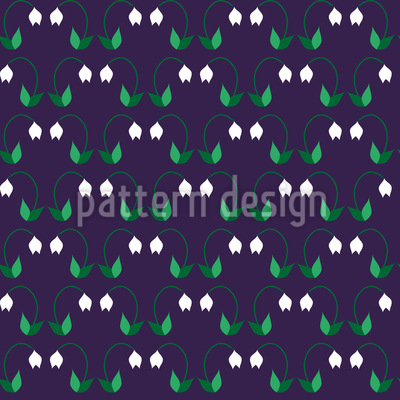 Snowdrops in Spring Vector Pattern