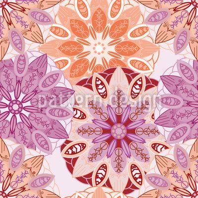Blumen Mandala Muster Design