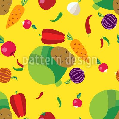 Gemüse Vektor Ornament