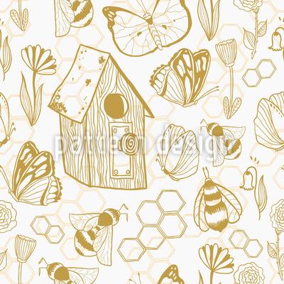 Honig Wiesen Nahtloses Muster