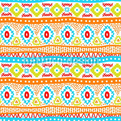Ethno Embroidery Seamless Vector Pattern
