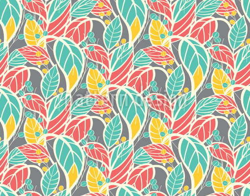 Leaves Are Growing Vector Pattern
