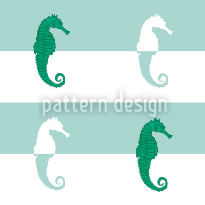 Seahorses On Stripes Pattern Design