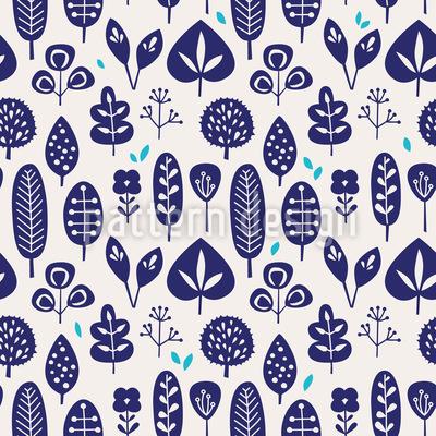 Blätter Auswahl Nahtloses Muster