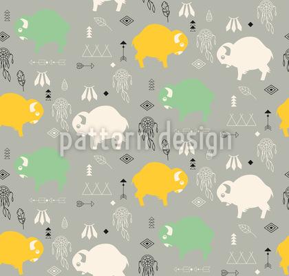 Süsse Baby-Büffel Vektor Muster