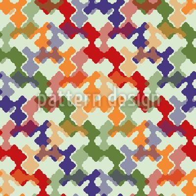 Farbenfroh Weben Rapportiertes Design