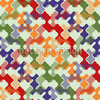 Weave It Colorful Repeating Pattern
