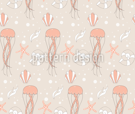 Unterwasser Szenerie Nahtloses Vektor Muster