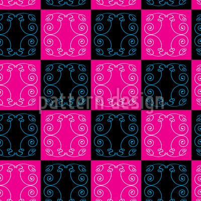 Pop-Art Barock Fliesen Nahtloses Muster