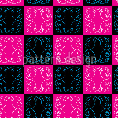 Pop Art Baroque Tiles Seamless Pattern