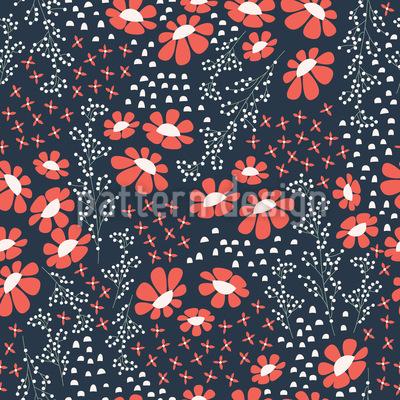 Japanese Summer Night Vector Pattern
