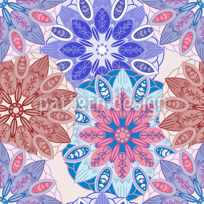 Blumen Mandala Traum Vektor Design