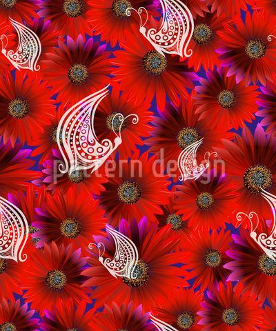 Blumenbeet Musterdesign