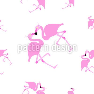 Verliebte Flamingos Vektor Ornament