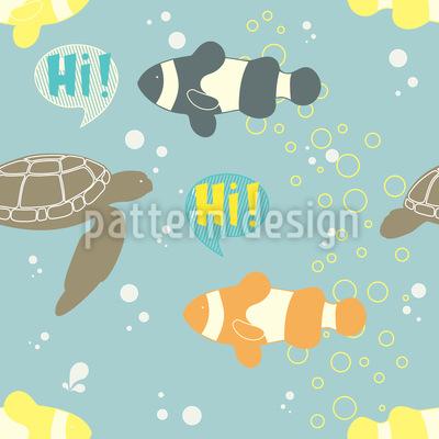 Grüssende Fische Rapportmuster