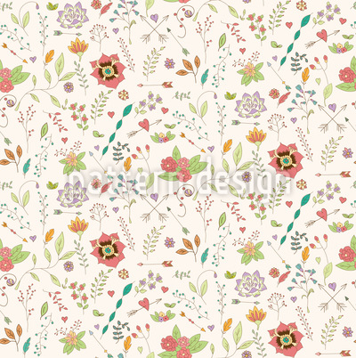 Floral Inspiration Vector Pattern