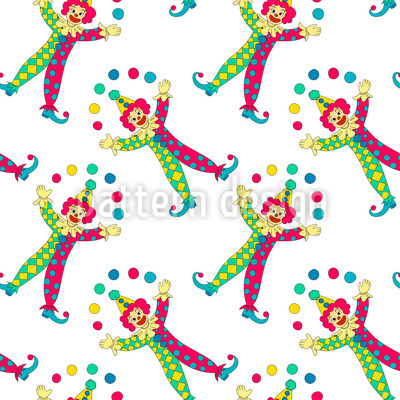 Jonglierende Clowns Vektor Ornament