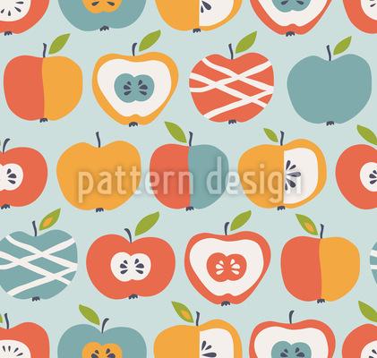 Neue Sorten Von Äpfeln Vektor Muster