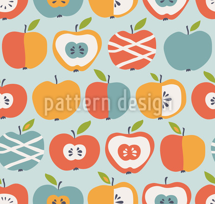 New Sorts Of Apples Vector Pattern