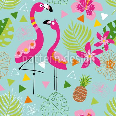 Exotisches Flamingo Paradies Musterdesign